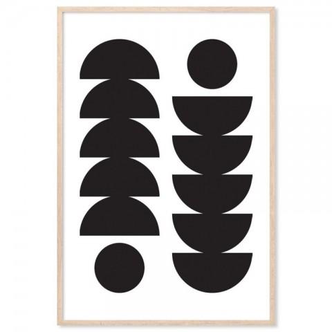 Circles Half Spheres Art Print