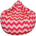 Chevron Bean Bag Fluro Pink