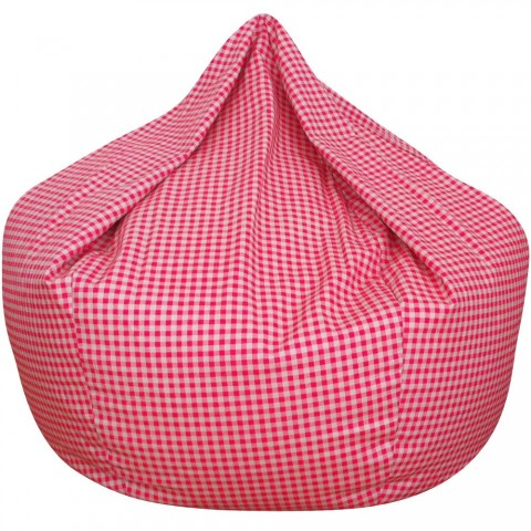 Gingham Bean Bag Pink
