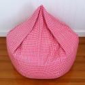 Gingham Bean Bag Pink