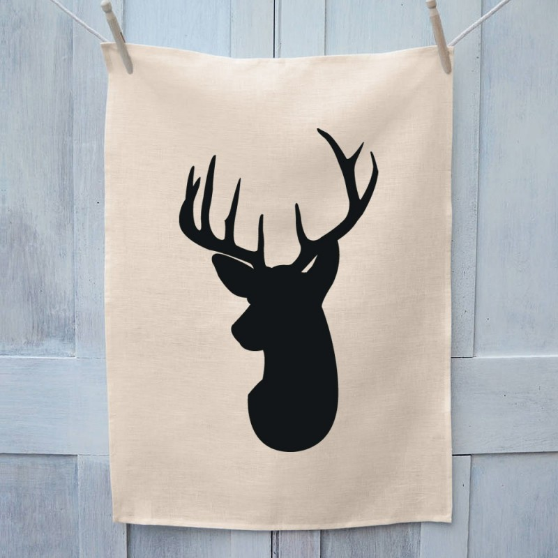 Deer Head Tea Towel
