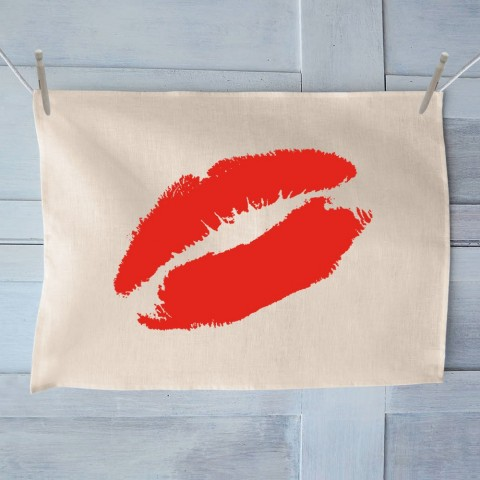 Lips Kiss Tea Towel