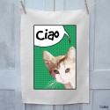Cat Ciao Tea Towel