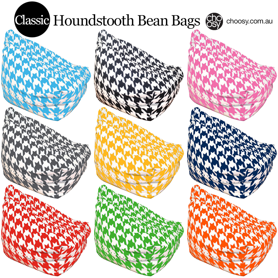 Why is Houndstooth So Popular And Why We Needed Houndstooth Bean Bags?