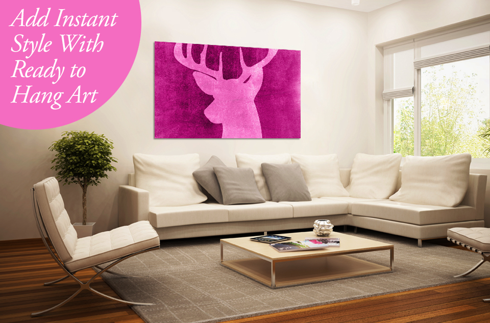 Add Instant Style To A Room With Ready To Hang Canvas Art
